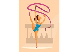 Woman gymnast character