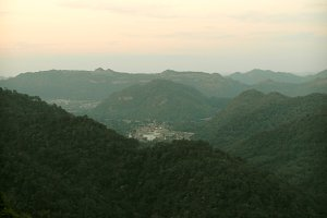 Big mountain sunset scenery