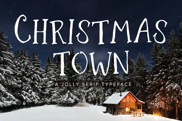 Christmas Town   A Jolly Serif