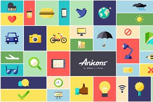 Anicons: the animated icon library
