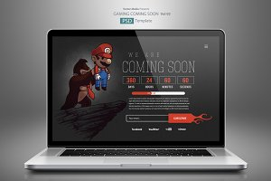 Gaming Coming Soon - PSD Template 02