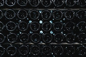 Texture of wine bottles