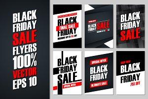 Set of Black Friday Sale flyers