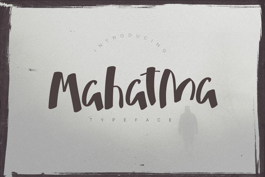 Best Mahatma Typeface Vector