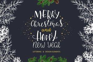Christmas lettering & design element