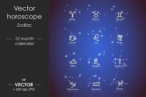 Vector horoscope, Zodiac sights