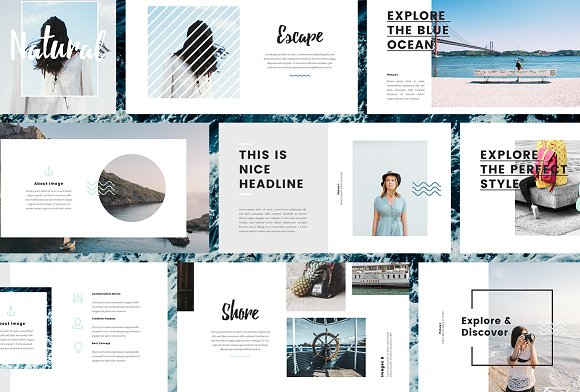 Nautical powerpoint template presentation templates creative market toneelgroepblik Gallery
