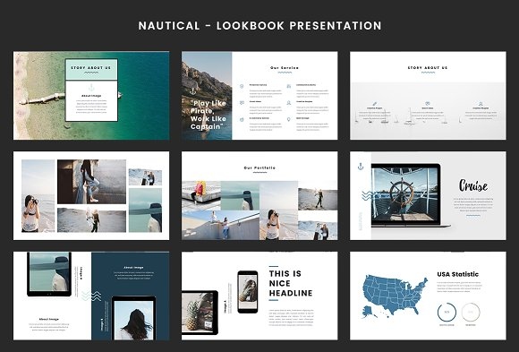 Nautical powerpoint template presentation templates creative market toneelgroepblik