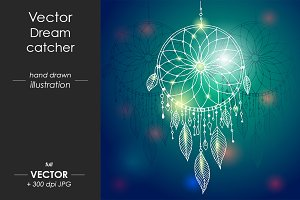 Dream catcher - vector illustration