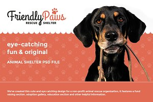 Friendly Paws - Shelter PSD template