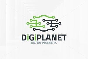 Digi Planet Logo Template
