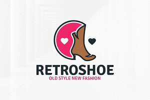 Retro Shoe Logo Template