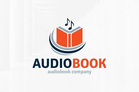 audio book logo template logo templates creative market