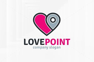 Love Point Logo Template