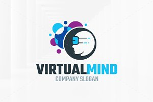 Virtual Mind Logo Template