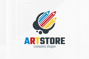 Art Store Logo Template