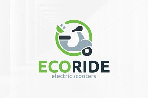 Eco Ride Logo Template