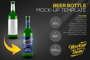 Beer Bottle Mock up Template