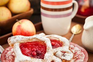 Delicious berry puff pastry