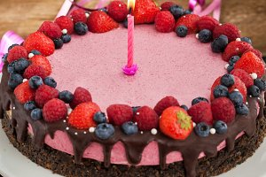 Raspberry cheesecake