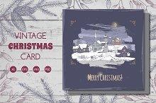 -20% Holiday village Christmas card