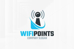 Wifi Points Logo Template