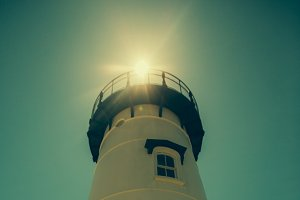 Lighthouse with Sun Flare