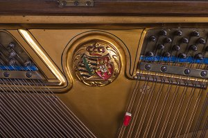 beautiful old German piano
