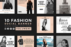 Fashion Social Banner Pack 5