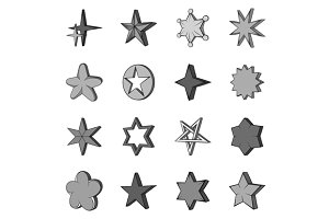 Star icons set