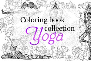 Coloring book yoga