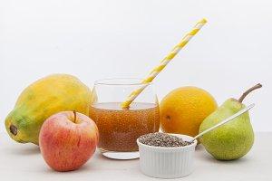 Chia and fresh fruit