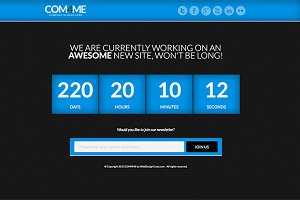 COM4ME Under Construction WP Theme