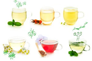 Herbal tea. Photography set.