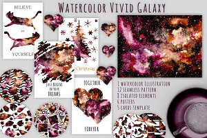 Watercolor Nebula Set