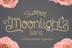 Sweet Moonlight- Handwritten Font