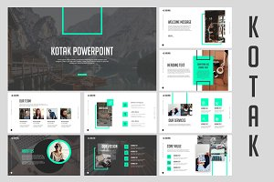 Kotak Clean Powerpoint Templates