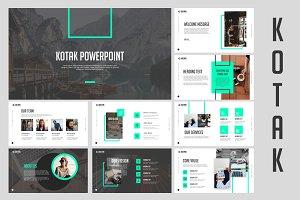 Kotak Clean Powerpoint Templates