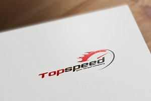 Fire Speed Logo Template