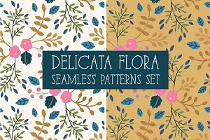 DELICATA FLORA Seamless Patterns