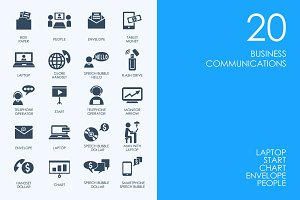 Business communications icons