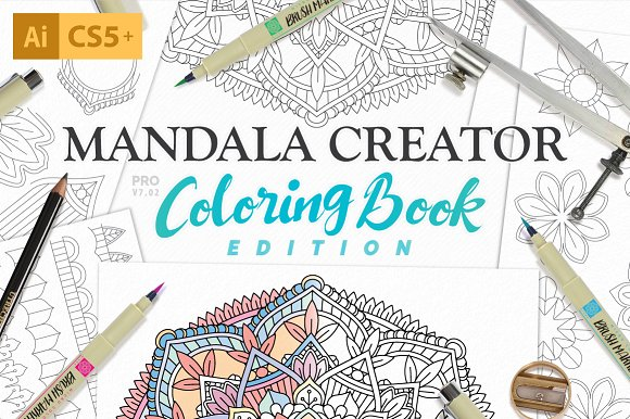 Coloring Book Mandala Creator Actions Creative Market