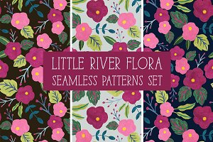 LITTLE RIVER FLORA Seamless Patterns