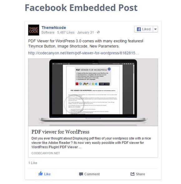 Facebook Social Plugins Kit for WP