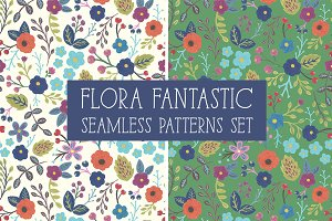 FLORA FANTASTIC Seamless Patterns