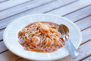 spaghetti shrimp