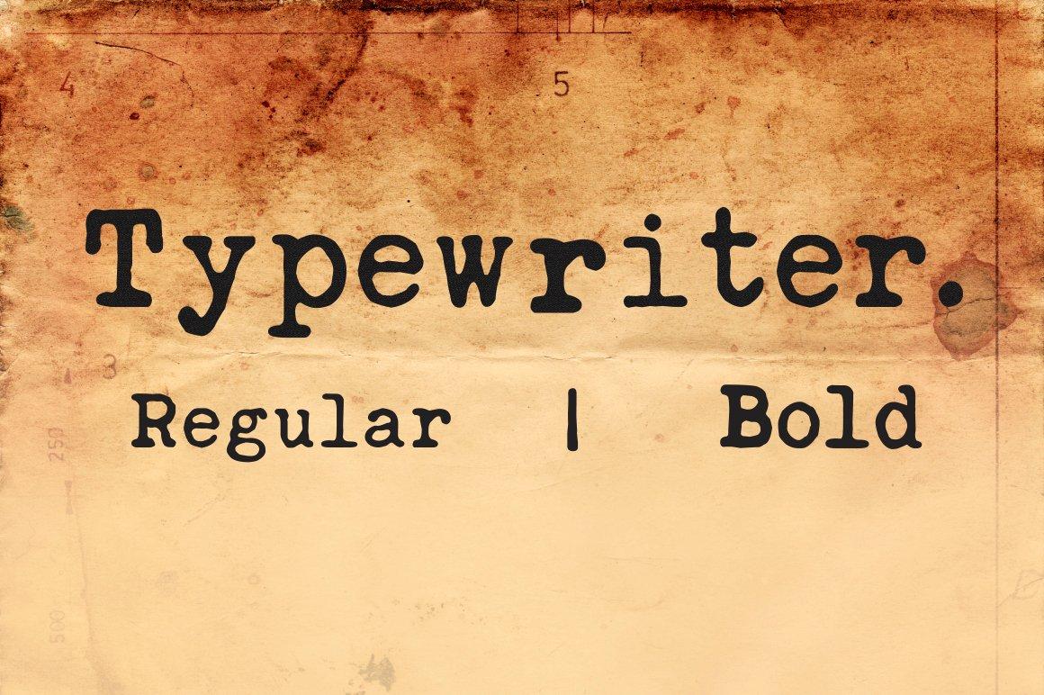 Typewriter font serif fonts creative market reheart Choice Image