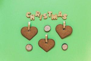 Christmas cookies minimalism .