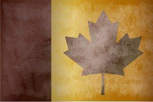 Canada flag grunge vector