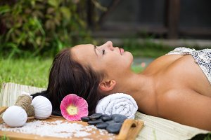 Woman spa relax
